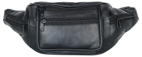 Black Color Leather Unisex Travel Bag - 514BLK