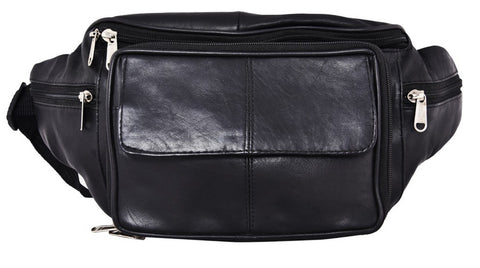 Black Color Leather Unisex Travel Bag - 515BLK
