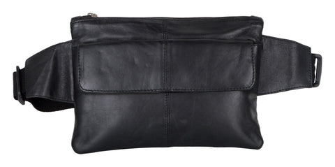 Black Color Leather Unisex Travel Bag - 516BLK