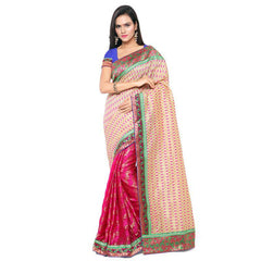 Multi Color Banarasi Jacquard Saree