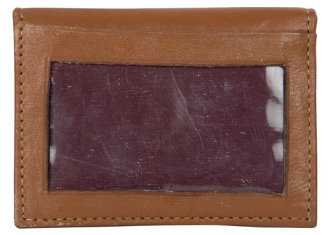 Tan Color Leather Credit Card Holder - 522TAN
