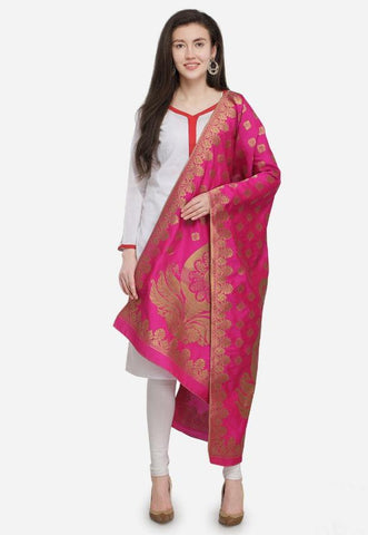 Pink Color Banarasi Silk Women's Dupatta - 52371