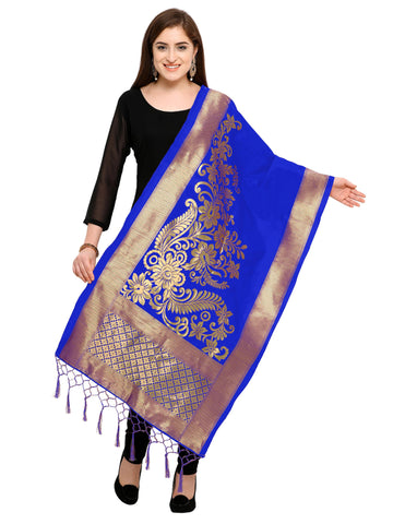 Blue Color Banarasi Silk Women's Dupatta - 52389