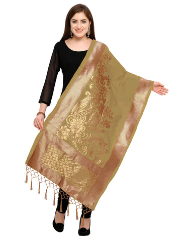 Grey Color Banarasi Silk Women's Dupatta - 52390