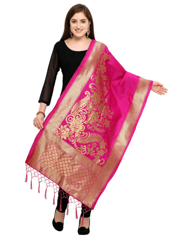 Pink Color Banarasi Silk Women's Dupatta - 52393