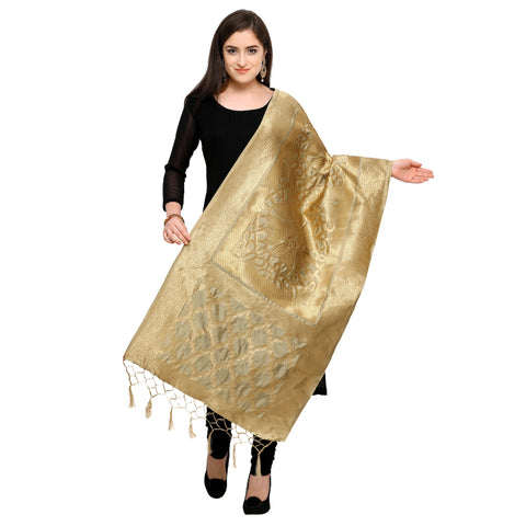 Beige Color Banarasi Silk Women's Dupatta - 52394