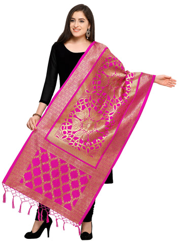 Pink Color Banarasi Silk Women's Dupatta - 52397