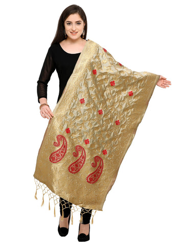 Beige Color Banarasi Silk Women's Dupatta - 52399