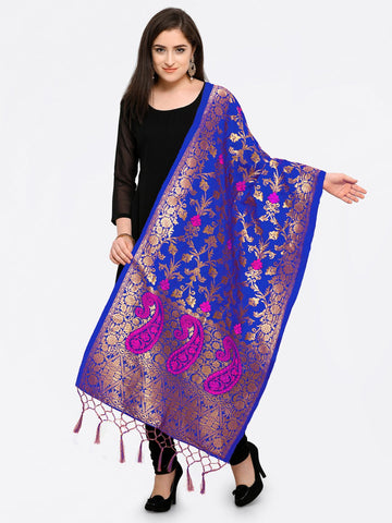 Blue Color Banarasi Silk Women's Dupatta - 52400