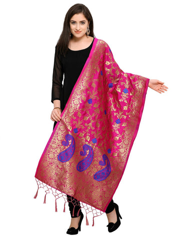 Pink Color Banarasi Silk Women's Dupatta - 52402