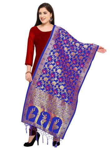 Blue Color Banarasi Silk Women's Dupatta - 52405