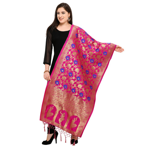 Pink Color Banarasi Silk Women's Dupatta - 52409