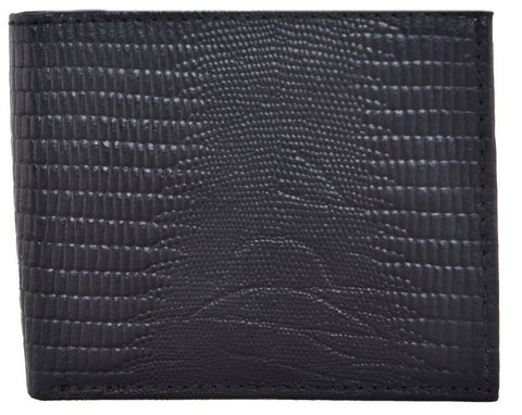 Black Color Leather Mens Embossed Wallet - 528ZLBLACK