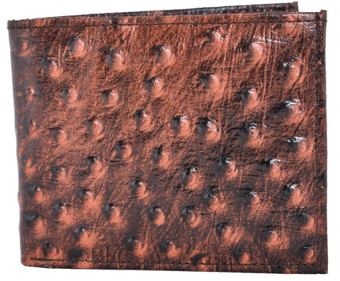 Brown Color Leather Mens Embossed Wallet - 528ZOBROWN