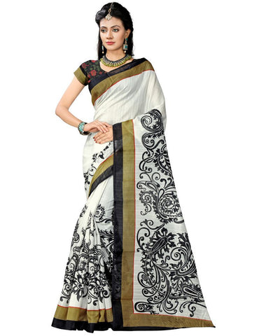 Multi Color Bhagalpuri Sarees - 7014
