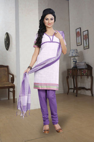 Violet Color Pure Cotton Un Stitched Salwar - 5658-C