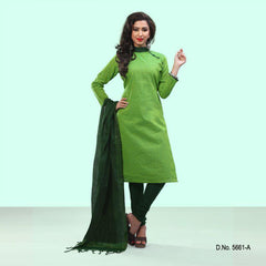 Green Color Cotton Salwars