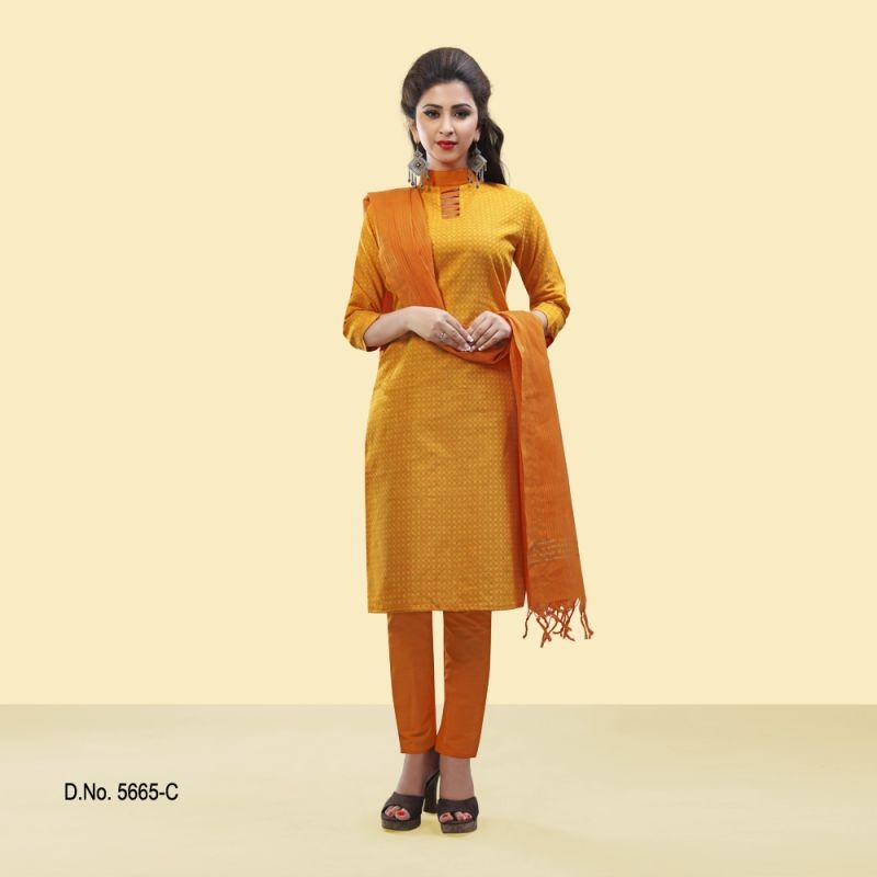 Yellow Color Pure Cotton Salwars
