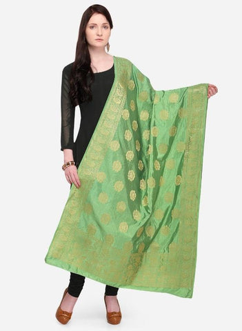 Light Green Color Banarasi Women's Dupatta - 58026