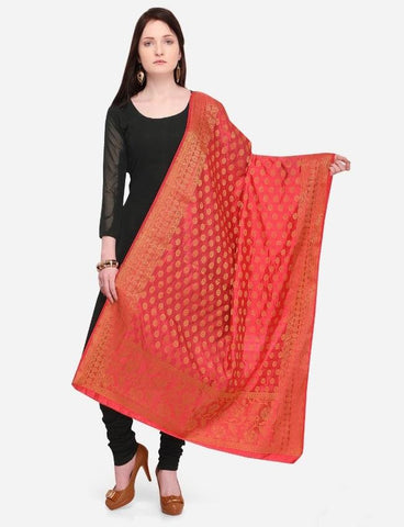 Red Color Banarasi Women's Dupatta - 58032