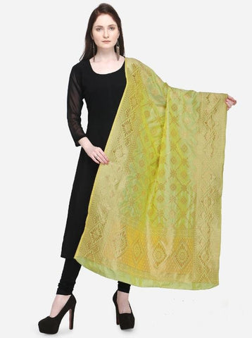 Light Green Color Banarasi Women's Dupatta - 58033