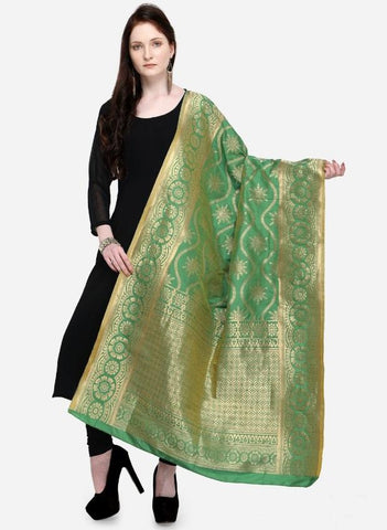 Green Color Banarasi Women's Dupatta - 58035