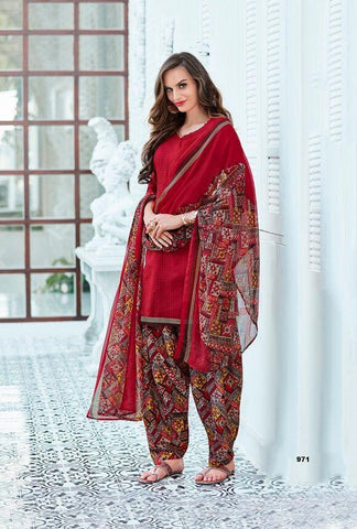 Maroon Color Cotton UnStitched Salwar  - 5NYSP971