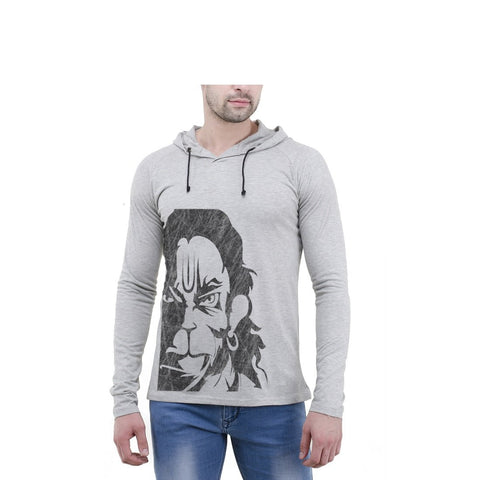 Grey Color Cotton Mens Tshirt - 6-fullhoody-550