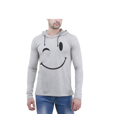 Grey Color Cotton Mens Tshirt - 6-fullhoody-604