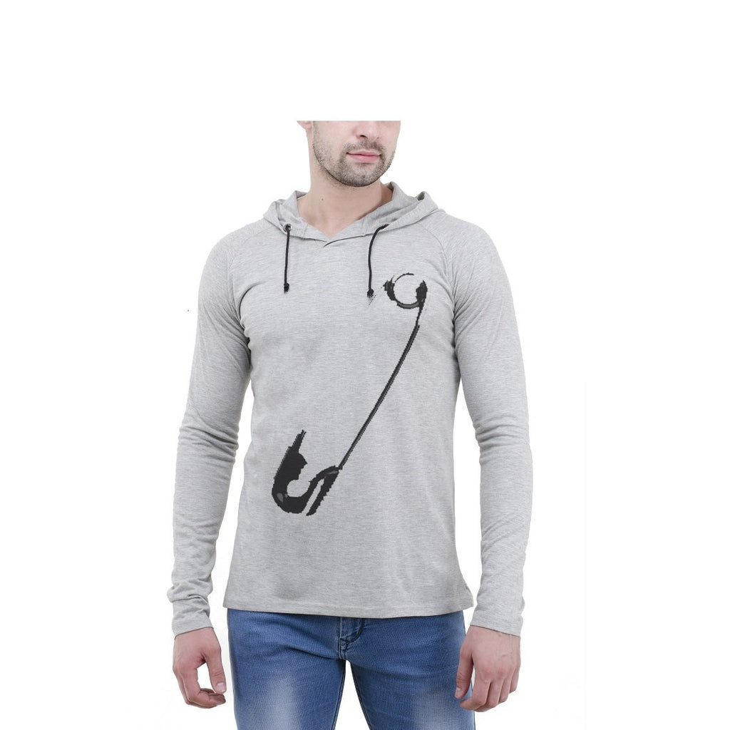 Buy Grey Color Cotton Mens Tshirt