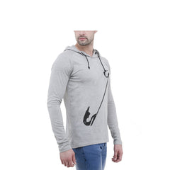 Grey Color Cotton Mens Tshirt - 6-fullhoody-608