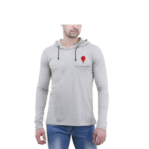 Grey Color Cotton Mens Tshirt - 6-fullhoody-610