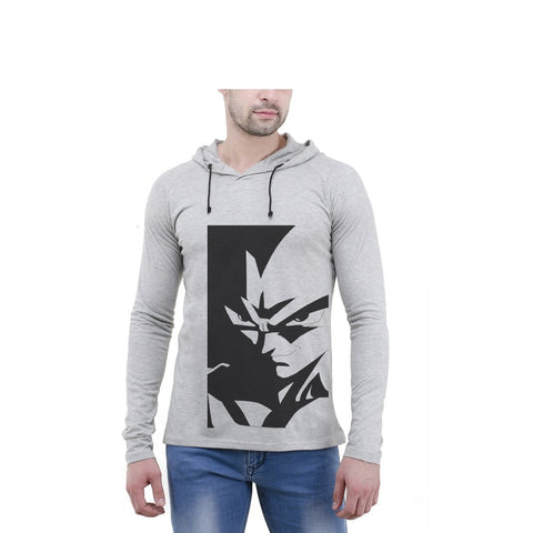 Grey Color Cotton Mens Tshirt - 6-fullhoody-614
