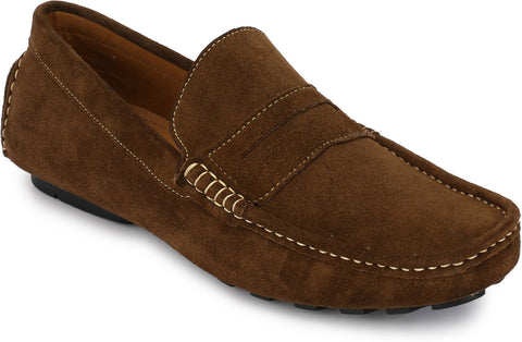 Chiku Color Suede Leather Men's Loafers - 6174_S_Chiku
