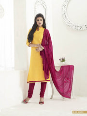 Yellow Color Chanderi Silk Salwars