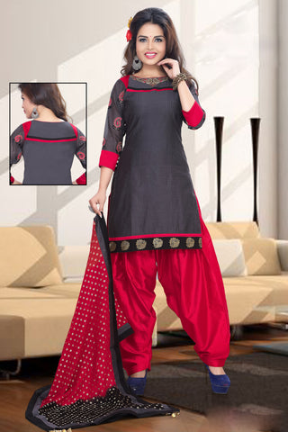 light Black Color Cotton Un Stitched Salwar - 6418