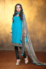 SkyBlue Color Chanderi Cotton Salwars