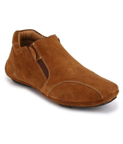 Tan Color Synthetic Men's Casual Shoes - 6864_Tan