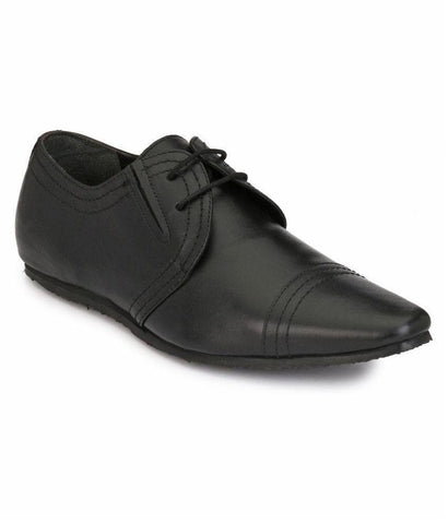Black Color Leather Men's Formal Shoes - 6867_BLACK