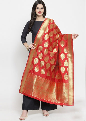 Red Color Banarasi Jacquard Women's Dupatta - 69405