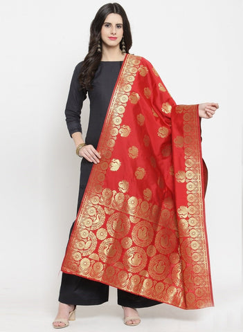 Red Color Banarasi Jacquard Women's Dupatta - 69409