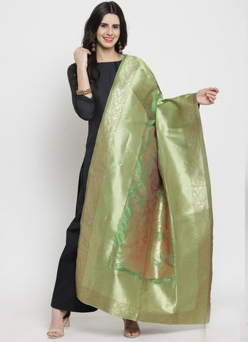 Green Color Banarasi Jacquard Women's Dupatta - 69412
