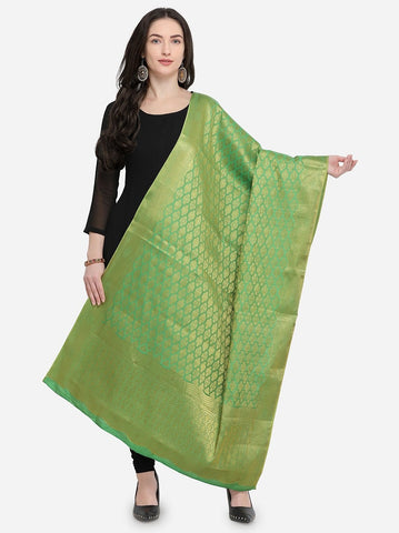Green Color Banarasi Jacquard Women's Dupatta - 69423