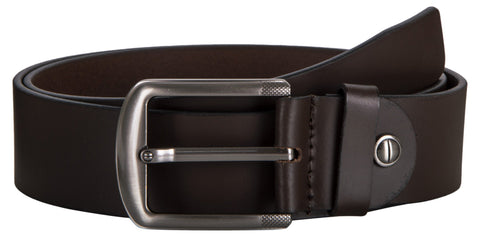 Brown Color Leather Mens Belt - 7-220BROWN