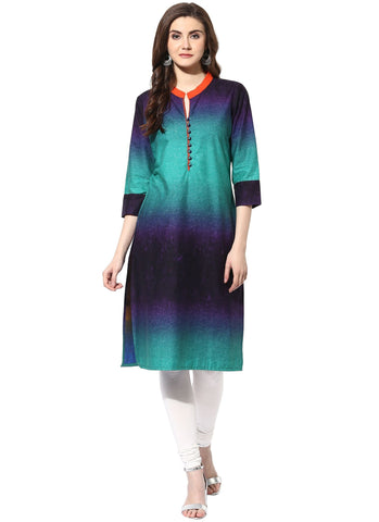 Multi Color Cotton Stitched Kurti - 7000004-MULTI