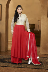 Red Color Georgette Salwars