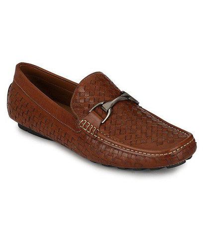 Tan Color Leather Men's Loafers - 7081_Tan