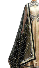 Cream Color Georgette Women's Semi Stitched Gown - RKC-Chikukoti