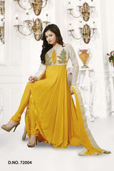 Yellow Color Georgette Salwars