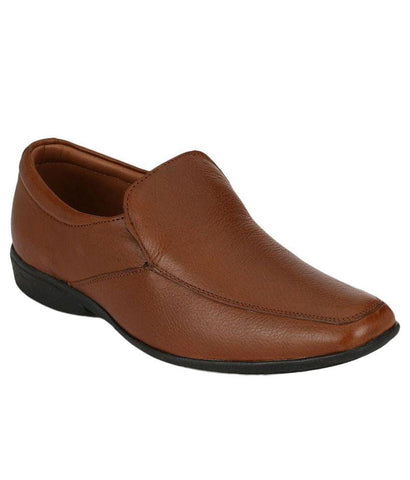 Tan Color Leather Men's Formal Shoes - 7290_TAN